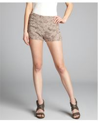 French Connection Silverweed Sequined Mini Shorts - Lyst