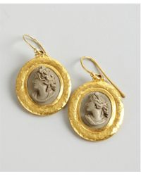 Gurhan Gold And Stone 'Pompeii' Lava Cameos Drop Earrings - Lyst
