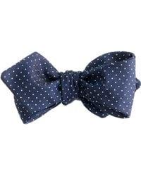 J.Crew English Silk Bow Tie In Pindot blue - Lyst