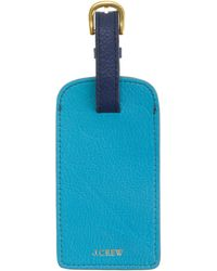 J.Crew - Leather Colorblock Luggage Tag - Lyst