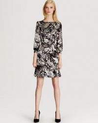 Karen Millen Print Dress Fluid Floral - Lyst