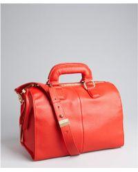 Kelsi Dagger Poppy Orange Pebbled Leather Izzy Convertible Satchel - Lyst