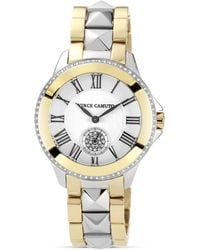 Vince Camuto - Gold Tone and Silver Tone Watch 38mm - Lyst