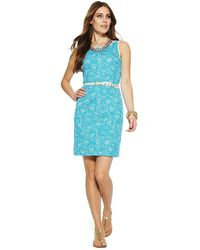C. Wonder Swirling Vines Cotton Sheath Dress - Lyst