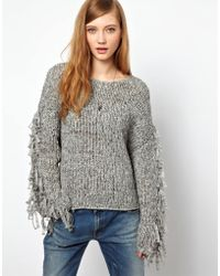 Denham - Fringed Sweater - Lyst