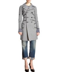 Junya Watanabe Multi Zip Double Breasted Houndstooth Coat - Lyst