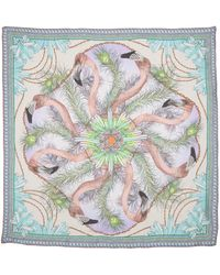 Matthew Williamson Flamingo Dna Silk Scarf - Lyst