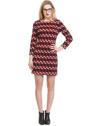 Plenty by Tracy Reese Geo Print Shift Dress - Lyst