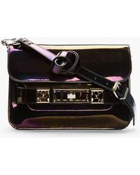 Proenza Schouler Black Iridescent Ps11 Mini Classic Bag - Lyst