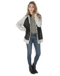 Thakoon Addition Leather Front Cardigan - Lyst