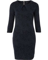 Therapy Brocade Jacquard Dress with Sleeve - Lyst