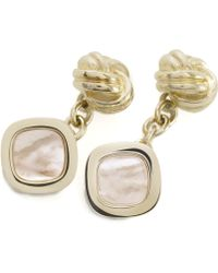 Brooks Brothers Gold Knot And Square Cuff Link gold - Lyst