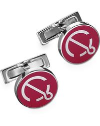 Hermes Yachting Blue Anchor Cufflinks - Lyst