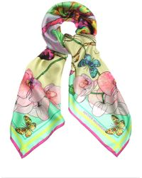Matthew Williamson Butterfly Dna Silk Scarf - Lyst