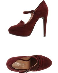 Nadia Grilli Moccasins With Heel - Lyst