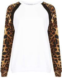 Topshop Raglan Panel Sweater By Illustrated People - Lyst