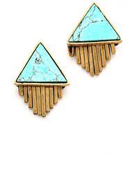 A Peace Treaty - Iina Triangle Stone and Fringe Earrings - Lyst
