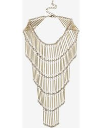 Topshop Tiered Beaded Necklace - Lyst