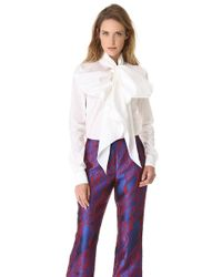 Wes Gordon - Tie Neck Shirt - Lyst