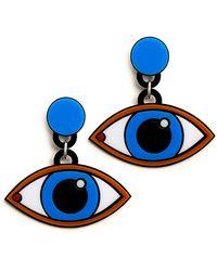 Yazbukey - Blue Eyes Earrings - Lyst