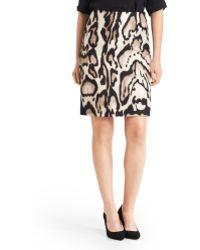 Diane von Furstenberg Mae Printed Pencil Skirt - Lyst