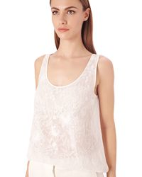 French Connection Cynthia Embroidered Vest Top - Lyst