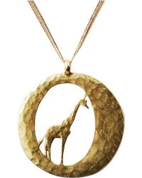 Lucky Brand Gold Tone Metal Giraffe Necklace - Lyst