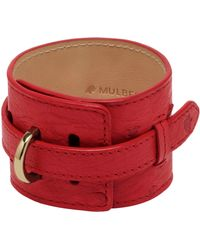 Mulberry Wide Leather Bracelet - Lyst
