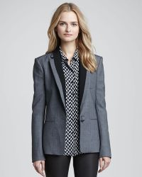 Theory Donelly Contrast lapel Blazer - Lyst