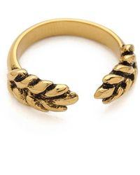 Aurelie Bidermann Wheat Cobs Ring - Gold - Lyst