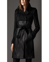 Burberry Long Leather Skirt Trench Coat - Lyst