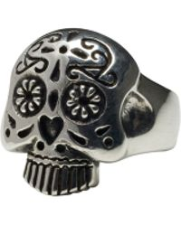 Femme Metale Jewelry Sugar Skull Ring - Lyst