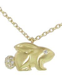 Finn - Diamond Bunny Necklace - Lyst