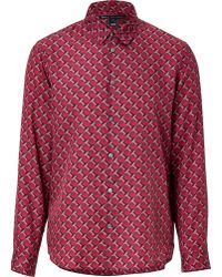 Marc By Marc Jacobs Cotton-Silk Shirt In Cabernet Red - Lyst