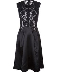Nina Ricci Lace Back Dress - Lyst