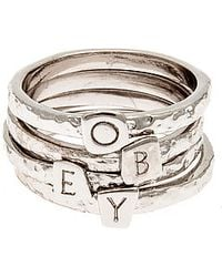 Obey - The Stack Rings - Lyst