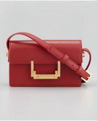 Saint Laurent - Small Lulu Shoulder Bag Red - Lyst