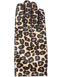Burberry Prorsum - Leopardprint Calf Hair Gloves - Lyst