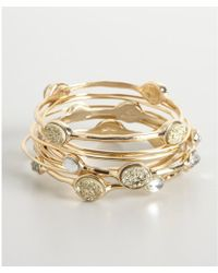 R.j. Graziano - Set Of 10 Gold and Crystal Thin Bangles - Lyst