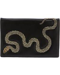 Roberto Cavalli Embellished Snake Clutch - Lyst