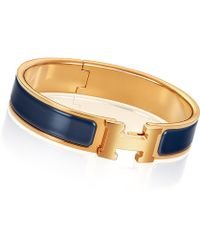 Hermès Clic H silver - Lyst