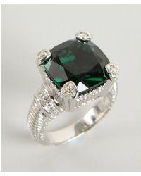 Judith Ripka Green Quartz and Diamond Fontaine Ring - Lyst