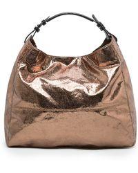 Mango - Metallic Shopper Bag - Lyst