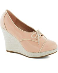 ModCloth | City in Pink Wedge | Lyst