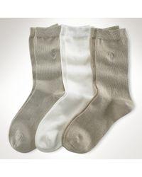 Ralph Lauren Pony Trouser Sock 3-pack - Lyst