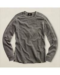 Rrl Gray Textured Crewneck - Lyst