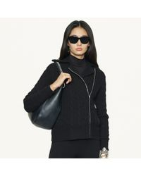 Ralph Lauren Black Label Cableknit Cashmere Pullover - Lyst