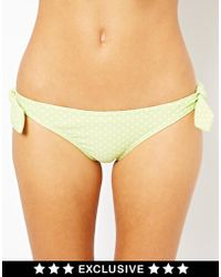 French Connection Exclusive To Asos Floral Bow Tie Side Bikini Bottoms - Lyst