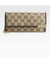 Gucci Dice Original Gg Canvas Chain Wallet - Lyst