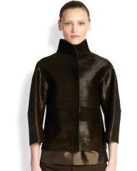 Jil Sander Calf Hair Jacket - Lyst